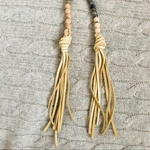 Mana Culture Jewelry - Boho Chic Taupe & Gray Beaded Wrap Necklace